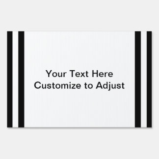 Mod Black and White Stripes Pattern Signs