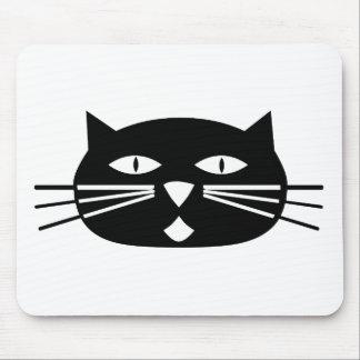 Mod Black Cat Mouse Pad