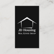 Mod Black White Classy Real Estate Businesscards Business Card
