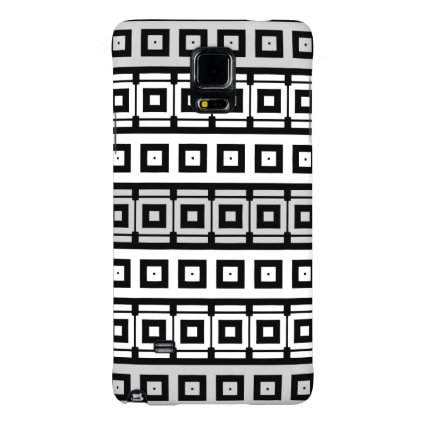 mod black white gray squares stripe pattern