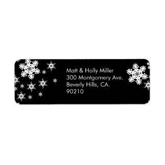 Mod Black & White Return Address Label