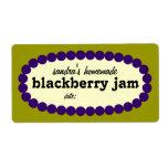 Mod Blackberry Jam Home Canning Jar Label