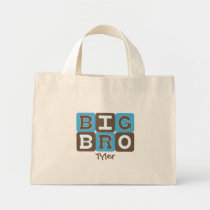 MOD Blocks Big Bro - Blue & Brown Personalized Mini Tote Bag