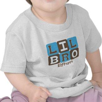 MOD Blocks Lil Bro - Blue & Brown Personalized Shirt