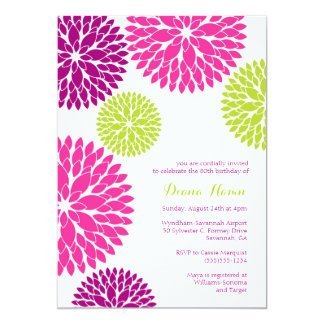 MOD BLOOMS - Wedding, Birthday or Any Occasion Card