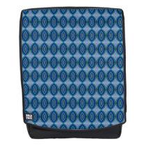Mod Blue Ovals Pattern Backpack