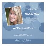 Mod Blue Photo Graduation Announcement