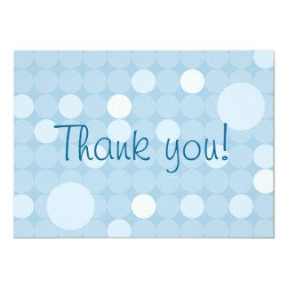 Mod Blue Polka Dot Baby Shower Thank You 4.5x6.25 Paper Invitation Card