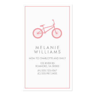 Mod Blush Pink Bicycle Business Card Templates