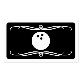 mod bowling (color customizable) Double-Sided standard business cards (Pack of 100)