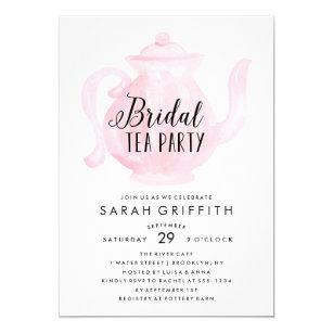 Bridal shower tea party invitations announcements zazzle mod bridal shower tea party pink invitation filmwisefo