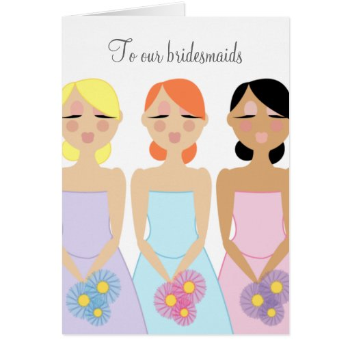 mod  BRIDESMAID THANK YOU custom card