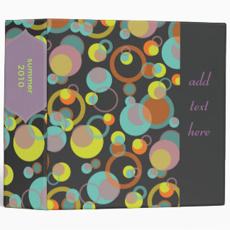 Mod bubbles binders, customizable background binder