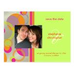 Mod bubbles, Save the Date Photo postcards,