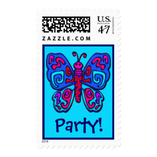 Mod Butterfly Postage Stamp