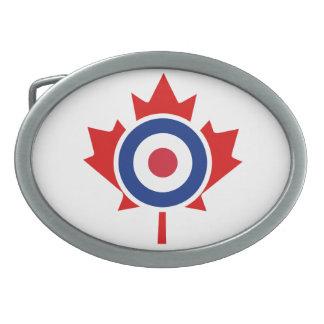 Mod Canada Curling Hockey Target Roundel Oval Belt Buckle