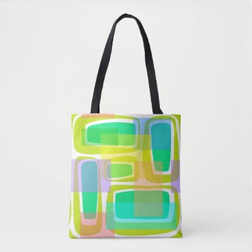 Beach Themed Mod Century Tote Bag