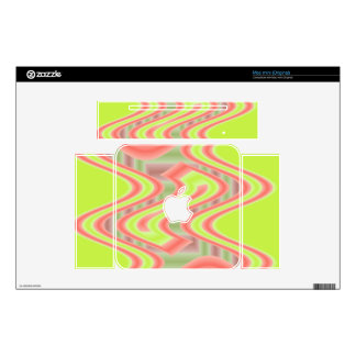 mod chartreuse orange abstract design decal for mac mini