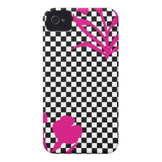 Mod Checkers and Flowers iPhone 4 Cover