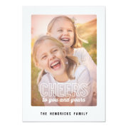 Mod Cheers Holiday Photo Card Announcement