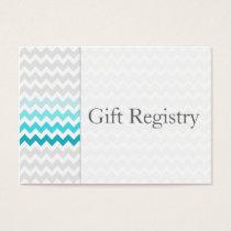 Mod chevron aqua Ombre Gift Registry Cards