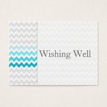 Mod chevron aqua Ombre wishing well cards