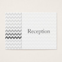 Mod chevron gray ombre Reception Cards