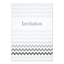 Mod chevron gray  Ombre wedding invites