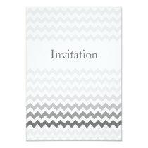 Mod chevron gray  Ombre wedding invites