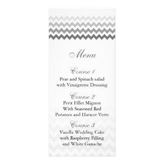 Mod chevron gray  Ombre wedding menu cards
