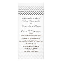 Mod chevron gray  Ombre Wedding program