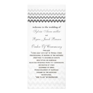 Mod chevron gray  Ombre Wedding program