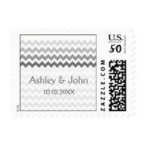 Mod chevron gray  Ombre wedding stamps