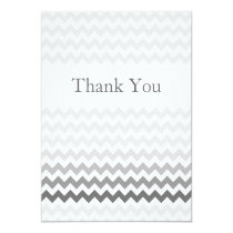 Mod chevron gray  Ombre wedding Thank You Card