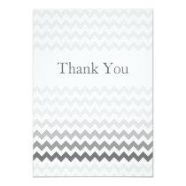 Mod chevron gray  Ombre wedding Thank You Card
