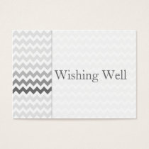 Mod chevron gray  Ombre wishing well cards