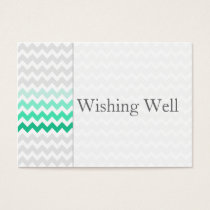 Mod chevron mint green Ombre wishing well cards