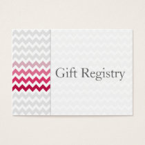 Mod chevron Pink Ombre Gift Registry Cards