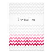 Mod chevron Pink Ombre wedding invites by mgdezigns