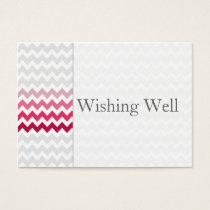 Mod chevron Pink Ombre wishing well cards