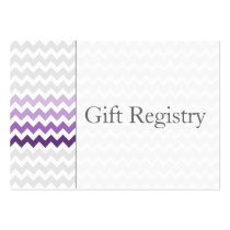 Mod chevron purple Ombre Gift Registry Cards Large Business Card