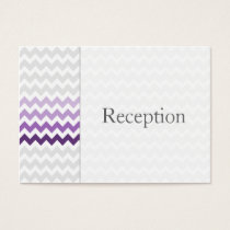 Mod chevron purple Ombre Reception Cards
