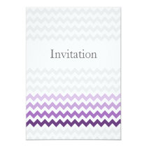 Mod chevron purple Ombre wedding invites
