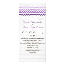 Mod chevron purple Ombre Wedding program