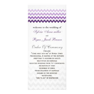 Mod chevron purple Ombre Wedding program