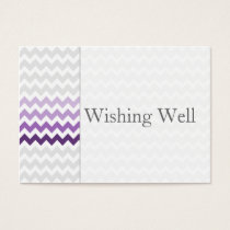 Mod chevron purple Ombre wishing well cards