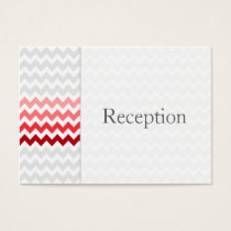 Mod chevron red Ombre Reception Cards