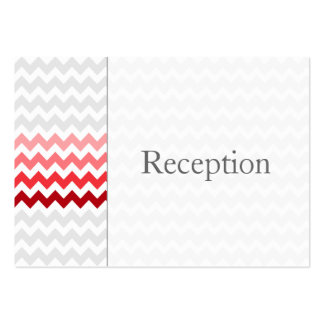 Mod chevron red Ombre Reception Cards Business Card Template