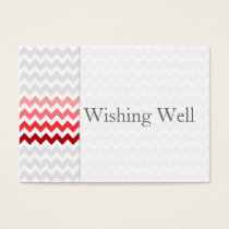 Mod chevron red Ombre wishing well cards