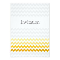 Mod chevron yellow and gray  Ombre wedding invites